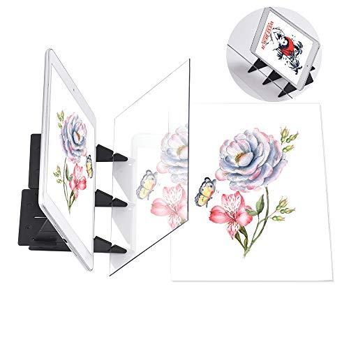 Aibecy Zeichenbrett Optisch Zeichnen Projektor Zeichenplatte Skizzieren Malwerkzeug Animation Kopierblock Keine Überlappung Schatten Spiegelbild Reflektionsprojektor Nullbasiertes Spielzeug