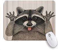 EILANNAマウスパッド かわいいタヌキ面白い表現 ゲーミング オフィス最適 高級感 おしゃれ 防水 耐久性が良い 滑り止めゴム底 ゲーミングなど適用 用ノートブックコンピュータマウスマット