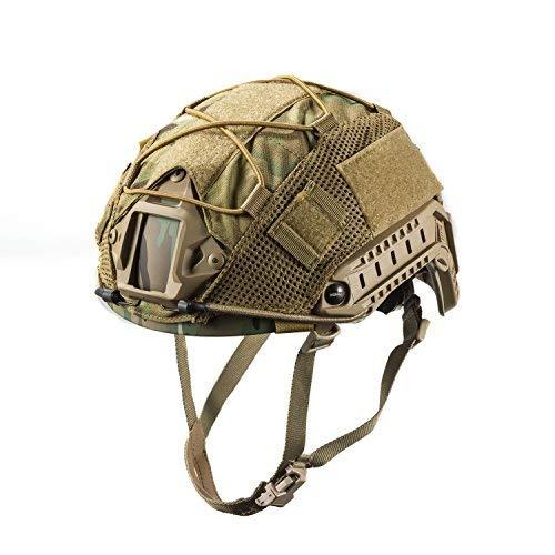 OneTigris Multicam Helmet Cover - No Helmet (ZKB05 for Ops-Core Fast PJ Helmet in Size M/L - Multicam)