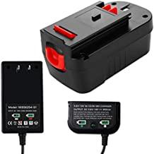 3.6Ah HPB18 Ni-Mh Battery + 90571729-01 Multi-Volt Output Charger for Black and Decker 9.6-18V Batteries and Battery Replacement for Black and Decker 18V Battery 244760-00 A1718 FS18FL FSB18 Firestorm