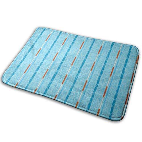 AoLismini Universelle rutschfeste Fußmatten, Begrüßungsmatten für den Außen- und Innenbereich Olympisches Schwimmbad Tiefe Badspuren Draufsicht Flaches Piktogramm