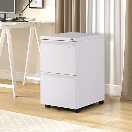 Depointer 2-Drawer Mobile File Cabinet with Lock,...