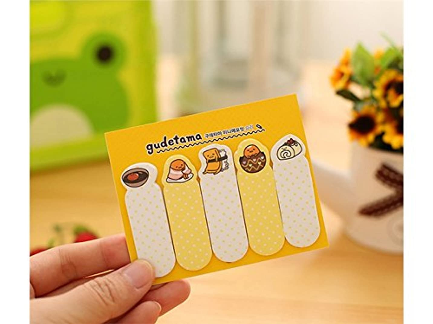 切り刻むダイバー政令FenBuGu-JP 学生教師 卵黄斑点の付いた粘着性のノート分類またはメッセージのための5つのゆるい葉バインダー(黄色)