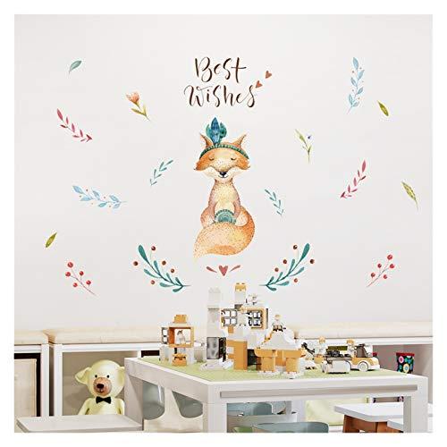 Pegatina de pared Dicor pintado Pegatinas de la pared de los cervatillos Animales lindos para la decoración de la sala de estar DIY DIY Decalación de la pared de la pared Decoración del hogar QT289 gu