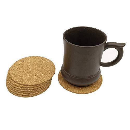 ZLASS Posavasos de Madera, Tazas/Vasos de Bebidas/y Posavasos para decoración de la Mesa de café y Anti-escaldado de la Mesa de Vidrio, Juego de 8 Piezas, 3.9 Pulgadas