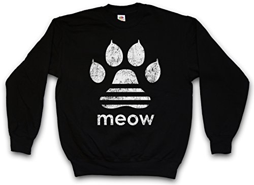 Urban Backwoods Meow Sweatshirt Pullover Schwarz Größe L