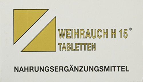 Bios Medical Services Weihrauch H 15 Tabletten, 100 Stück, 1er Pack (1 x 65 g)