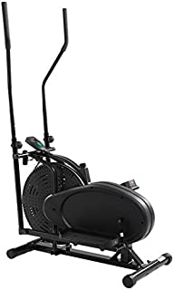 Belovedkai Elliptical Trainer Exercise Bike, Dual Cross Trainer Machine Home Gym Workout Fitness Indoor Cycling Bike