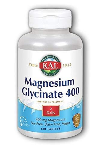 KAL - Magnesium Glycinate 400, 180 Tablets (2 Pack)