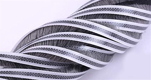 Pangyoo PYouo-Tira de Sellado Puerta corredera de Aluminio Groove Groove Nylon Pila Cepillo Sello burlete 7mm * 8mm, Sellado eficiente