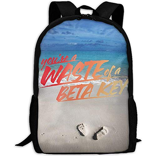 Waste of A Beta Key Full 3D Print Mochila School Laptop Bag