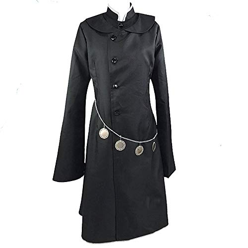 MLYWD Cosplay Kostüm Halloween Maskerade Anime Black Butler Unter Taker Mantel Tägliche Uniform Windbreaker Anzüge Optionale Perücke Gr. Large, Herren 3-teiliges Set.