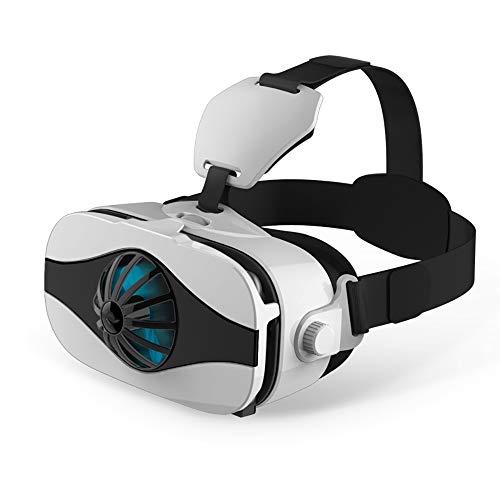 Gafas VR, Gafas 3D VR Se Ajustan A Los Juegos De Soporte para Teléfonos Inteligentes Pantalla Completa 112 ° Gran Angular Desmontable Compatible con Todas Las Plataformas