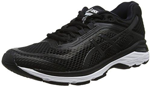 Asics Gt-2000 6, Zapatillas de Entrenamiento Mujer, Negro (Black/White/Carbon 9001), 37 EU