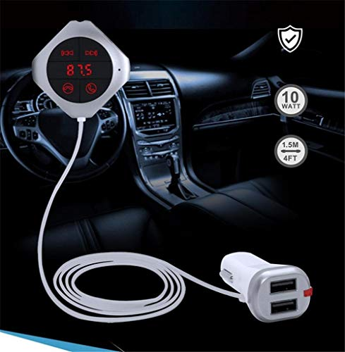 Auto Bluetooth handsfree MP3 FM Transmitter Dual USB mobiele telefoon oplader auto geheugenfunctie, universeel, snel en stabieler oplaadbaar, spanning tot 5 V/2,5 A onafhankelijke Bluetooth S