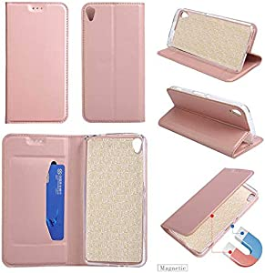 GORASS Case Compatible for Sony Xperia Wallet Case  Leather Waterproof Magnetic Drop Protection Folio Flip Case with Kickstand and Credit Card Slots  Pink