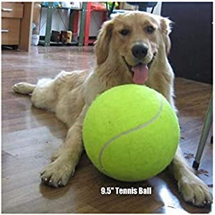 """Giant Tennis Ball 9.5"""" Pet Tennis Ball Signature Jumbo Tennis Ball Kids Toy Best Gifts for Large Dogs Big Dog Toy"""