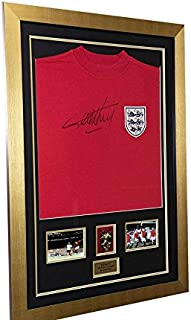 Hand Signed Geoff Hurst World Cup 1966 Replica Shirt COA 3 x 2ft - Autographed Soccer Jerseys