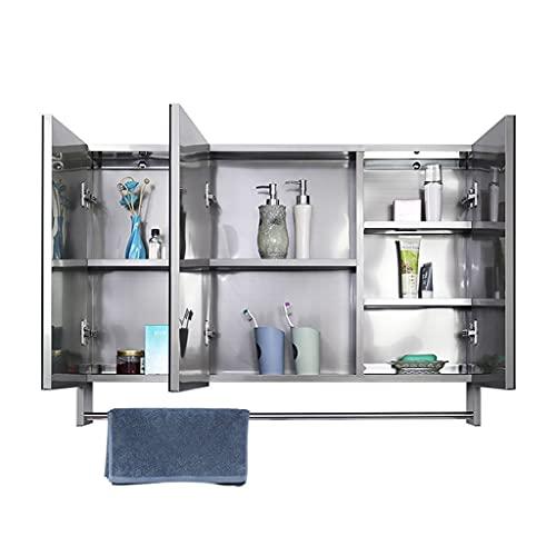 Armarios con espejo Muebles de baño Gran Capacidad y Tres Puertas toallero...
