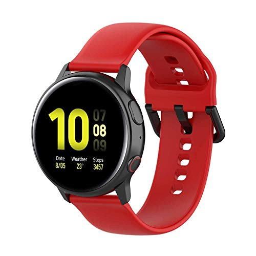 XIHAMA bandje compatibel voor Samsung Galaxy Watch Active 2 (40mm 44mm)/Galaxy Watch Active (40mm), Silicone Fitness Vervangende Band Armband