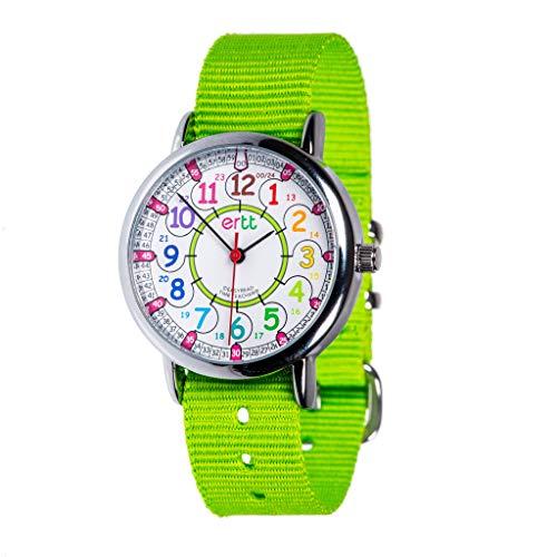EasyRead time teacher ERW-COL-24-LZeitlernen Kinderarmbanduhr Limette, 4 Farben erhältlich