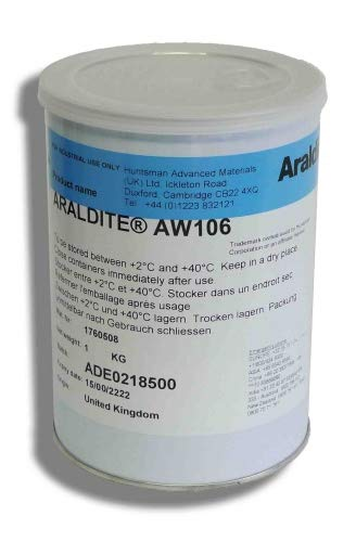 Araldite AW 106 Epoxidharz HUNTSMAN   1 kg   Zwei Komponenten 2K Epoxid Kleber Klebstoff   Klebstoffkartusche   Harz Epoxidharzkleber Epoxidharz Epoxidkleber Epoxidklebstoff