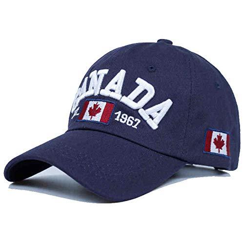 MIBQM Unisex Cotton Gorras Kanada Baseball Cap Hat Snapback Verstellbare Herren Baseball Caps Brand Snapback Hat-Navy blau