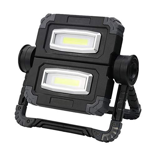 LED Akku Arbeitsleuchte, Strahler Arbeitslampe COB Baustrahler, (20W, IP54, 850 Lumen, 5000Mah, Eingebaute Wiederaufladbare Batterien) Notfallleuchte Mit 3 Lichtmodi Für Stromausfällen, Zelt, Camping