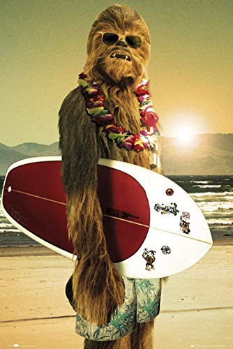 Jigsaw Puzzles 1000 Star Wars - Chewbacca with Surfboard Poster