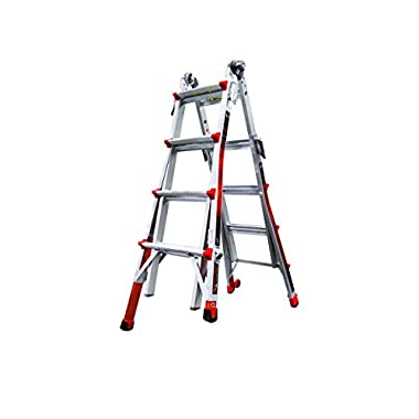 Little Giant Ladder Systems 12017-801 Revolution M17 with Ratcheting Levelers