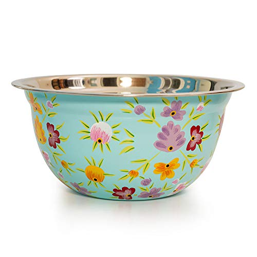Hand Painted Popcorn bowl or Punch bowl - Large Bowl Design by Indian Artisans for Pasta bowl or Salsa bowl