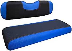NOKINS Golf Cart TY Type Rear Seat Cover Kit, Suitable for Ordinary Rear Seat Cushion (About 38 X 14 X 3.8 Inches), Easy to Install, Update and Protect The Back Cushion (Blue&Black)