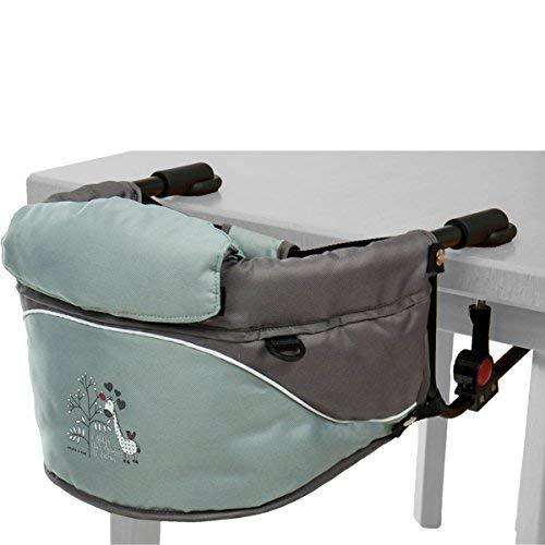 Tischsitz/Hochstuhl/Stuhlsitz mit Giraffen-Aufdruck und Transporttasche (Bis 15 Kg) Farbe: GRAU