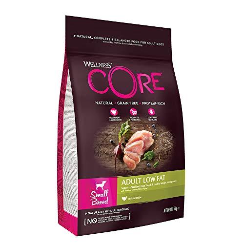 Wellness CORE Small Breed Low Fat, Hundefutter trocken für kleine Rassen, getreidefrei, hoher Fleischanteil - Pute, 5 kg