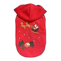 ペット服 小型犬 秋冬 コート クリスマス コスプレ コスチューム 犬 2本足 ホリデーア パレル 衣装 パーカー 脱着簡単 Ammbous