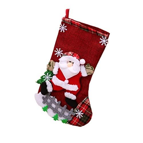 JJY Medias Colgantes de la Navidad Decoración Calcetines Grande Decorativo Ropa de Cama Colorido Árbol de Navidad Adornos (Color : Old Man)