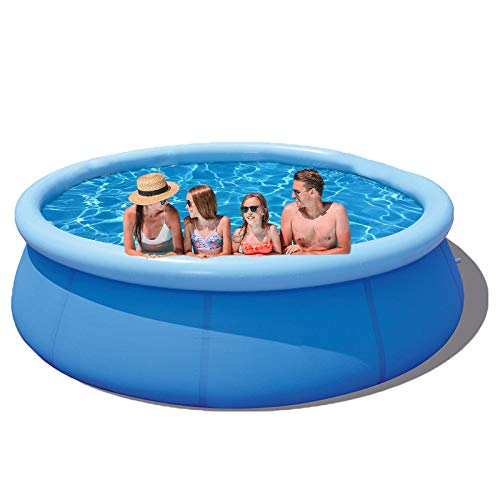 WDERNI Inflatable Above Ground Swimming Pool - 10ft x 30in Easy Set Kiddie Pool for Adult and Family