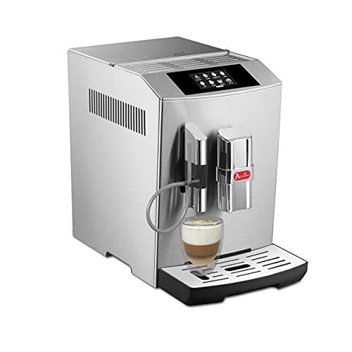 Acopino Modena ONE Touch Display Kaffeevollautomat mit Milchsystem, Cappuccino und Espresso auf Knopfdruck, Edelstahlgehäuse, Farb-Touch-Display