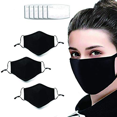 Adjustable 3-pack daily face washable double-layer facial care with 6 filters