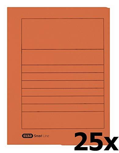 Elba 31460OG - Carpeta (250 g/m2, cartón manila, aproximadamente 150 hojas A4, 25 unidades), color naranja