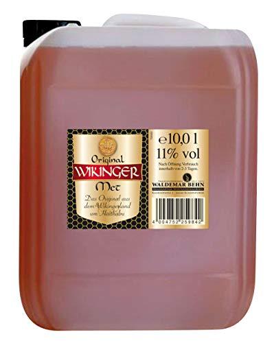 Original Wikinger Met | 1 x 10l im Kanister | Honigwein aus der Wikingerland Haithabu | fruchtig aromatisch | Das Original