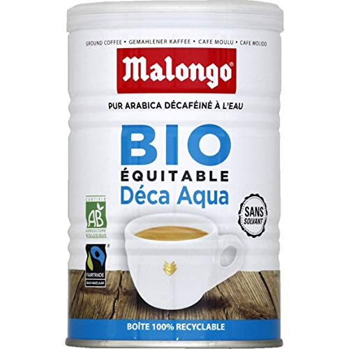 Malongo - Café Décaféiné Moulu Bio Sans Solvant -...