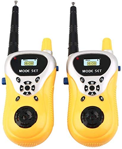 ANVIT Toy World Battery Operated Walkies Talkie Set for Kids (Yellow)