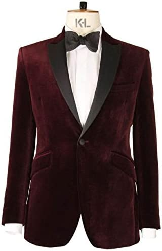 Mens Maroon Velvet Jacket Shipping included Louisville-Jefferson County Mall Evening Christmas Coat Wear Party Dinn