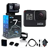 GoPro HERO7 Black - Waterproof Action Camera with Touch Screen (HERO7 Black), 4K HD Video, 12MP Photos, Live Streaming and Stabilization - Base Kit OPEN BOX