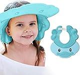 Maydolly Shampoo per il lavaggio dei capelli, visiera regolabile per il bagnetto del bambino, cuffia da doccia per la testa dei bambini, taglia 38 - 60 cm, colore: blu anatra