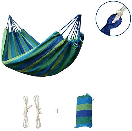 On The Run Lienzo hamacas al Aire Libre/jardín Ocio acampa Portable Beach oscilación Que Suspendido árbol del ahorcado Hamaca Azul,190x150cm