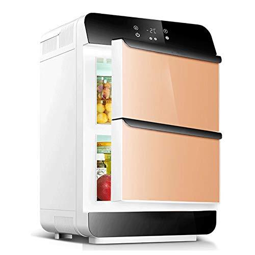 Big Shark Mini-koelkast, vrijstaand, alle koelkasten, voor slaapkamer, woonkamer, keuken, compacte dubbele deur, koelkast, warm en koud