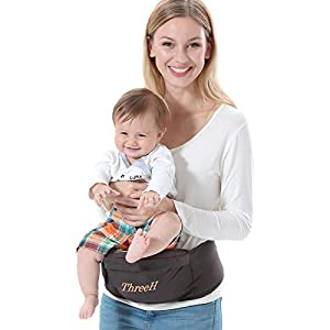 ThreeH Asiento de cadera portabebés recién nacido bebé cómodo BC10,Brown