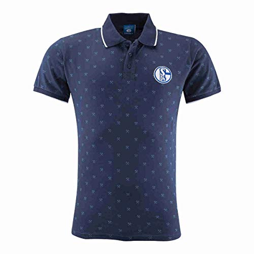 FC Schalke 04 Polo Allover navy L